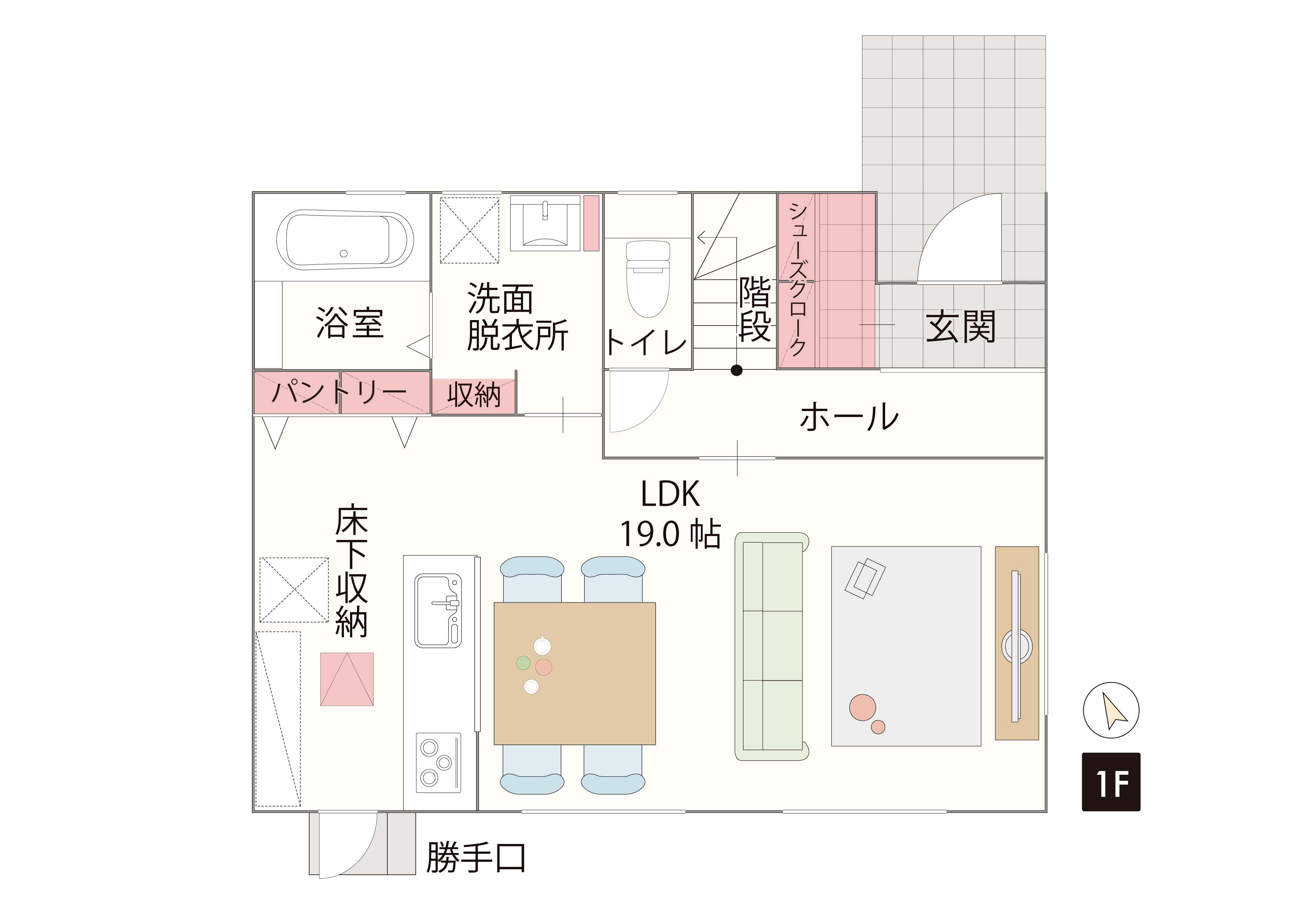 福岡市東区舞松原(限定1棟) 1F間取り