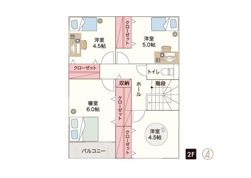 福岡市名島2期 限定1棟 2F間取り
