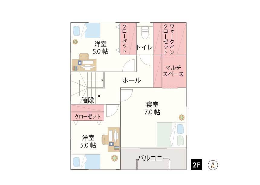 糸島市前原駅南 限定1棟 2F間取り