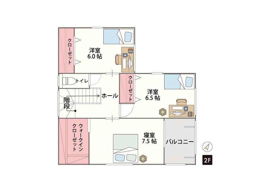 糸島市篠原東 限定1棟 2F間取り